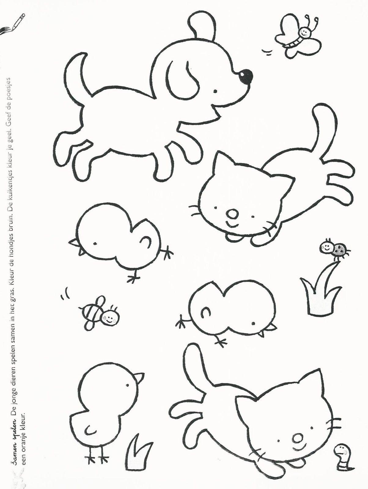 Quatang Gallery- Kleurplaat Class Pet Coloring Pages Cartoon