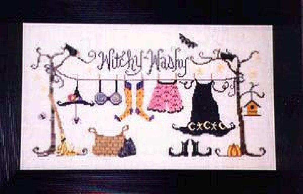 Witchy Washy - I've seen this one completed and it's really cute!  The photo doesn't do it justice (they never do!).