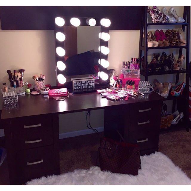 Hollywood Chic Xl Vanity Mirror Vanities Bulbs And Makeup Vanities