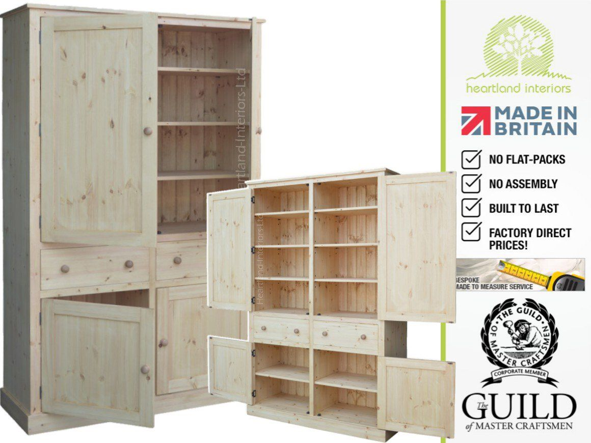 Contemporary 2 M Tall Pantry-Linen-Larder-Kitchen Cupboard CUP2M ...