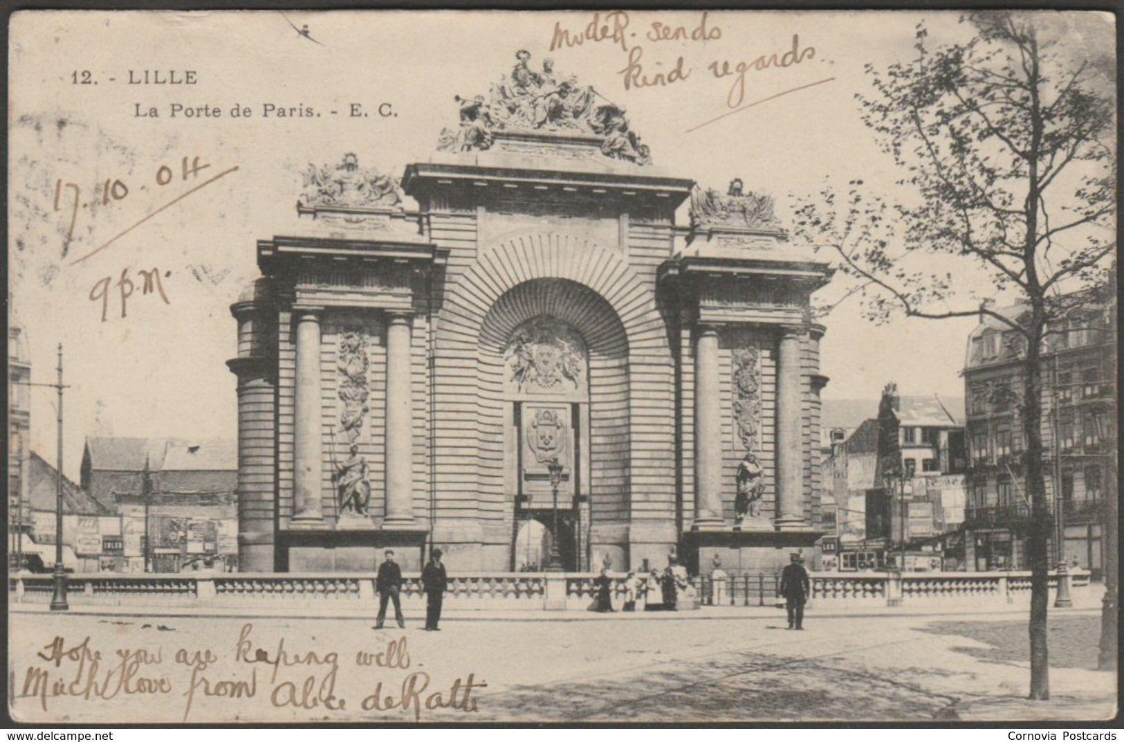 La Porte De Paris Lille 1904 Edmond Cailteux Cpa For Sale On Delcampe Postcards For Sale Postcard Paris