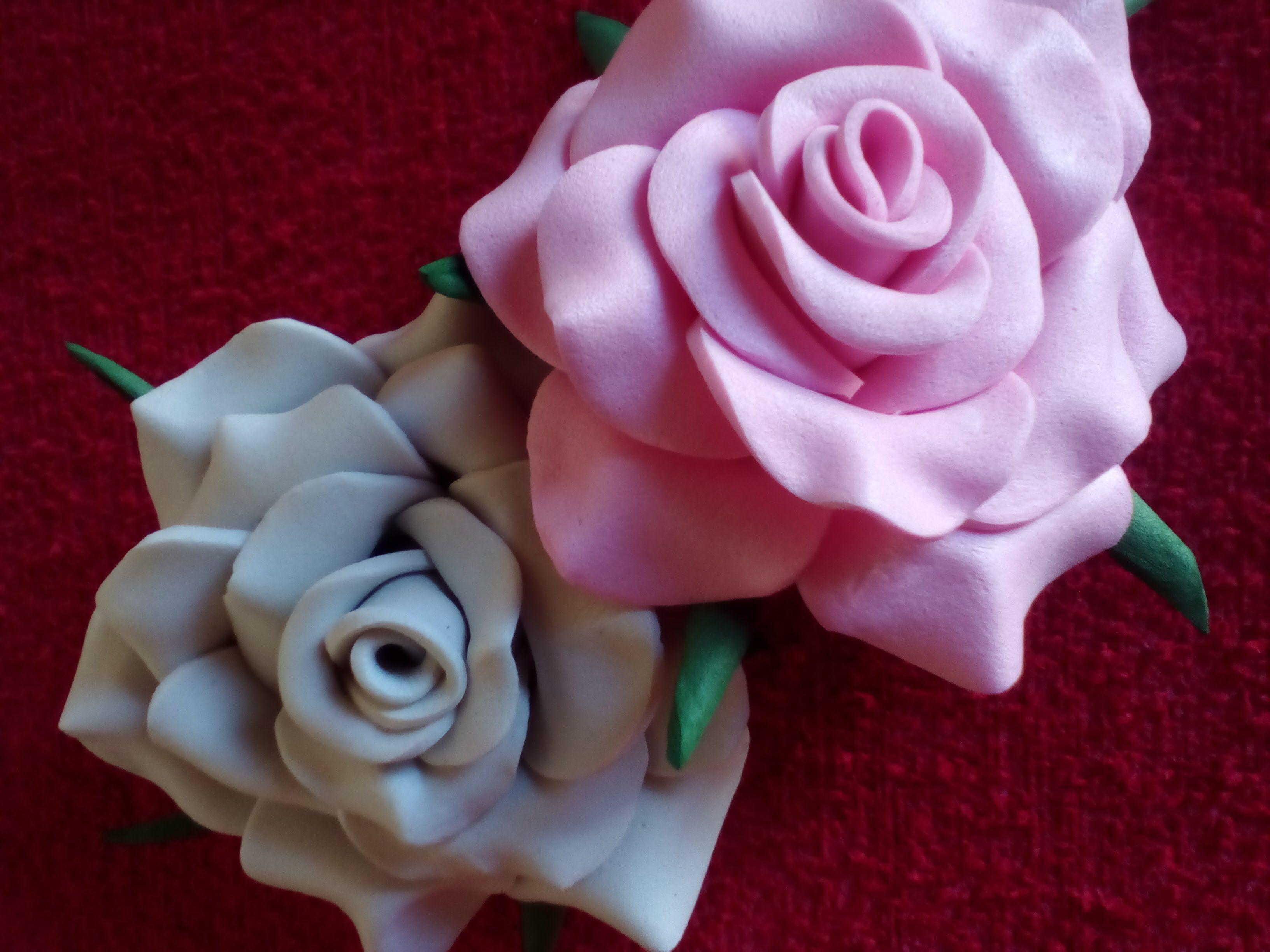 FLORES DE GOMA EVA ***ROSA FACIL** * | Rosas en goma eva, Flor goma eva,  Manualidades con goma eva