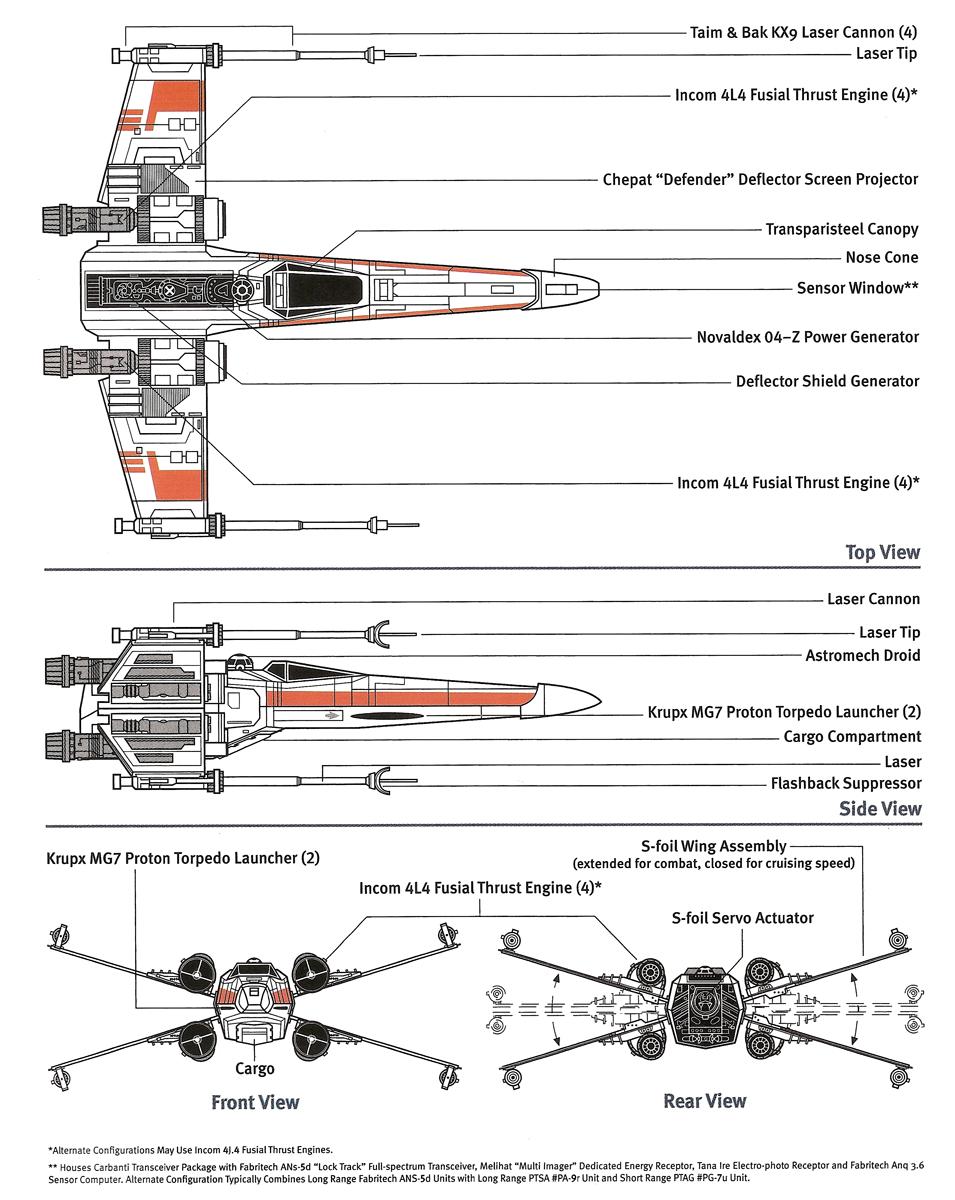 naves espaciales y vehículos-X-Wing-Cruiser Starfighter-aat De Agostini-Star Wars