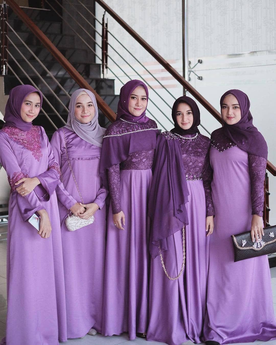 Beautiful bridesmaid @zsalsadil  Hijab dress party, Hijab fashion
