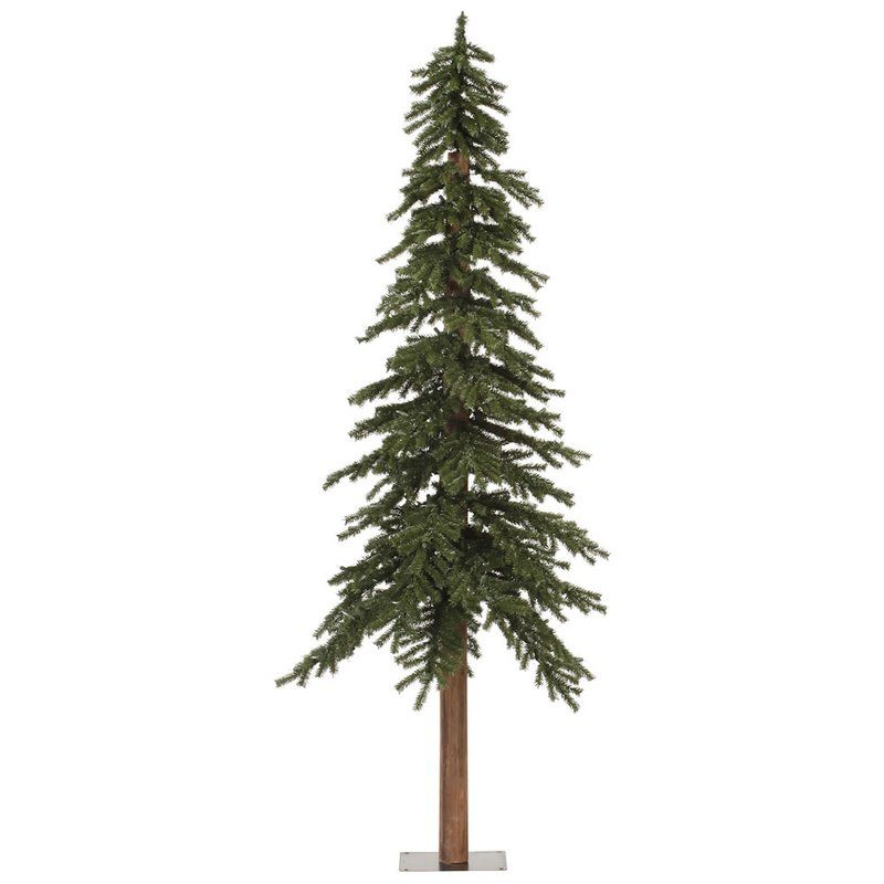 7 natural alpine green artificial christmas tree - Rustic Artificial Christmas Tree