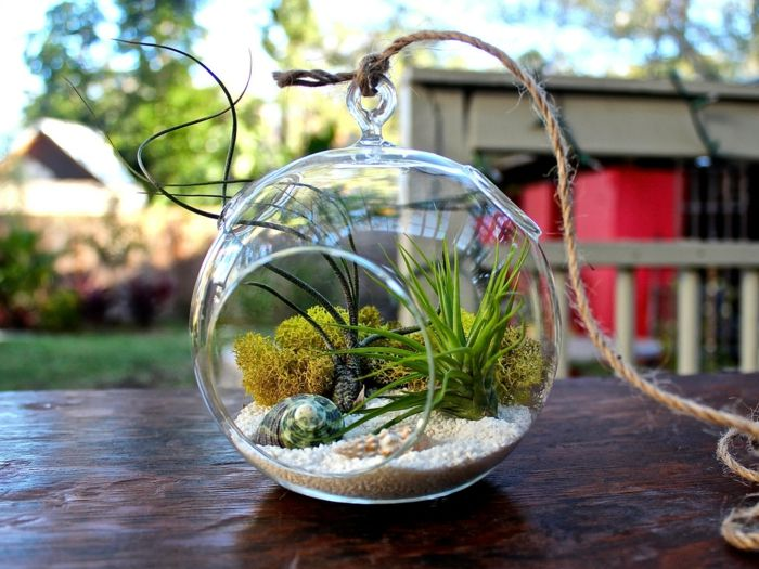 decoration de jardin en verre