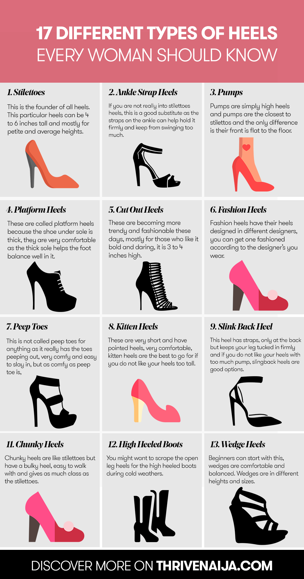 Different Heel Types Every Woman Should