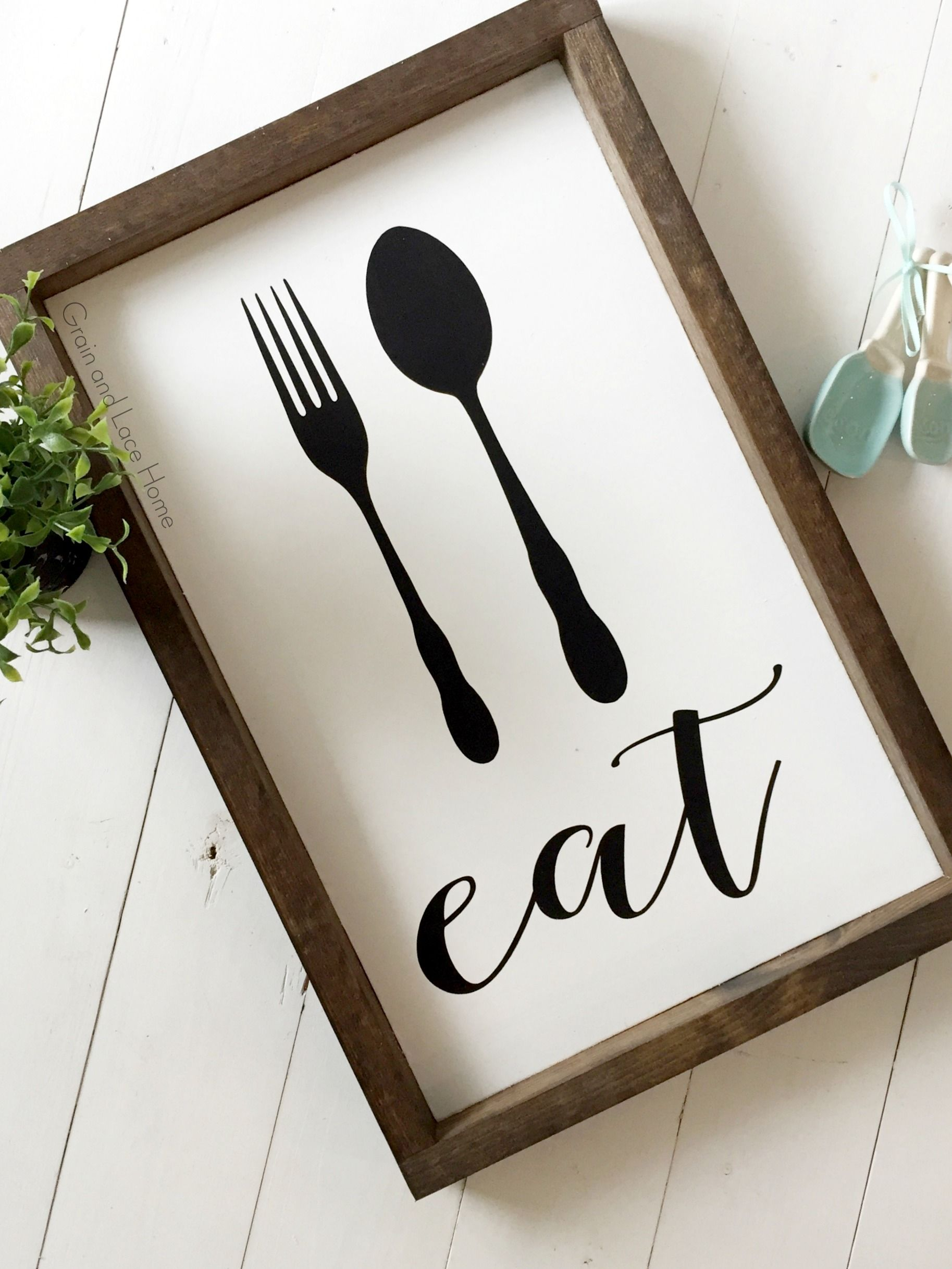 Eat Sign Eat Utensil Sign Farmhouse Kitchen Decor Kitchen Etsy In 2020 Kitchen Decor Frames Farmhouse Kitchen Signs Kitchen Decor Apartment
