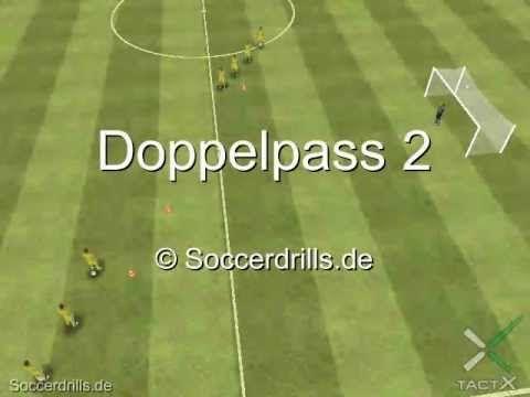 Doppelpass Die Zweite Torschussubung Fussballtraining Auf