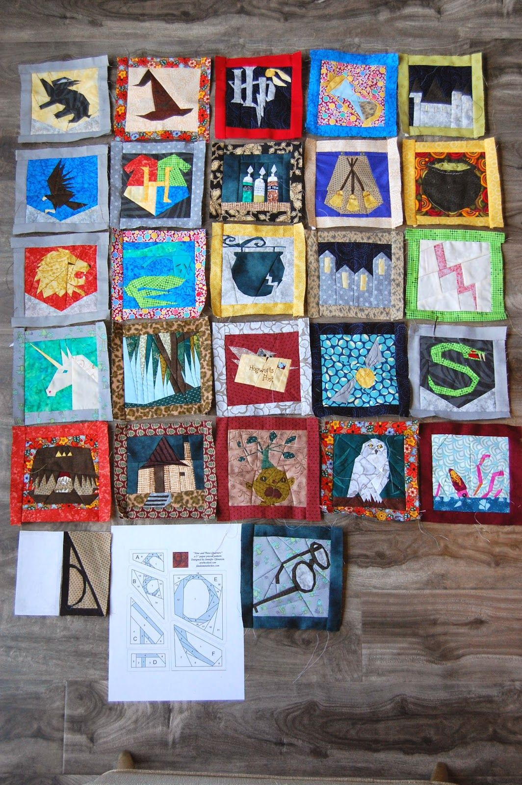 Tutorial: paper piecing Harry Potter quilt. Free patterns from ... : use of quilt - Adamdwight.com