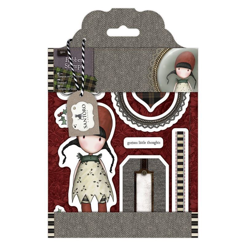 """SIMPLY GORJUSS   """" HOLLY   """"   - SANTOROs Cling Stamp Set -  New !!  Urban stamps - DoCrafts by BarbsHandiworks on Etsy"""