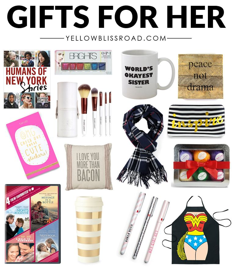 Christmas Gift Ideas for Her - For Any Budget! | Creative birthday gifts, 25th birthday gifts ...