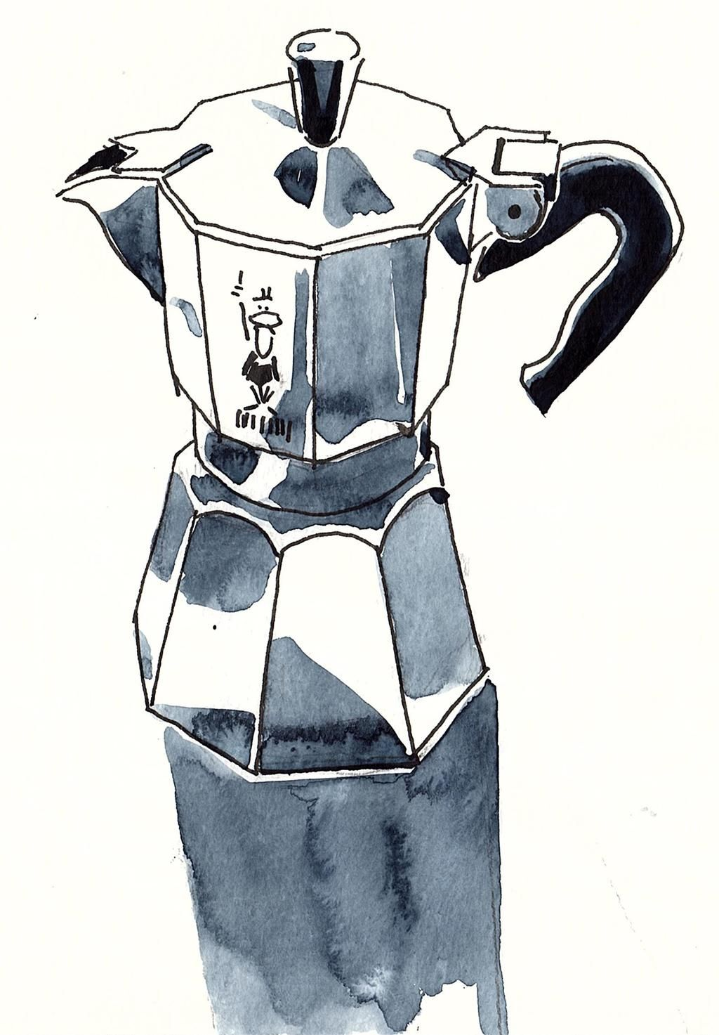 Today Drawing My Bialetti For InternationalCoffeeDay