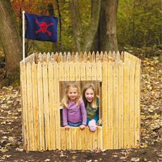 wooden yard fort