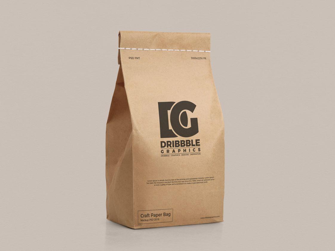 Download Free Craft Paper Bag Mockup Psd Bag Mockup Paper Bag Design Paper Crafts