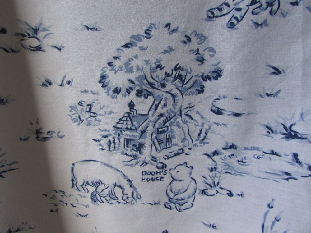 Classic Winnie The Pooh Friends Toile Fabric Shower Curtain 100 Acres Woods Disney Toile Fabric Winnie The Pooh Friends Fabric Shower Curtains
