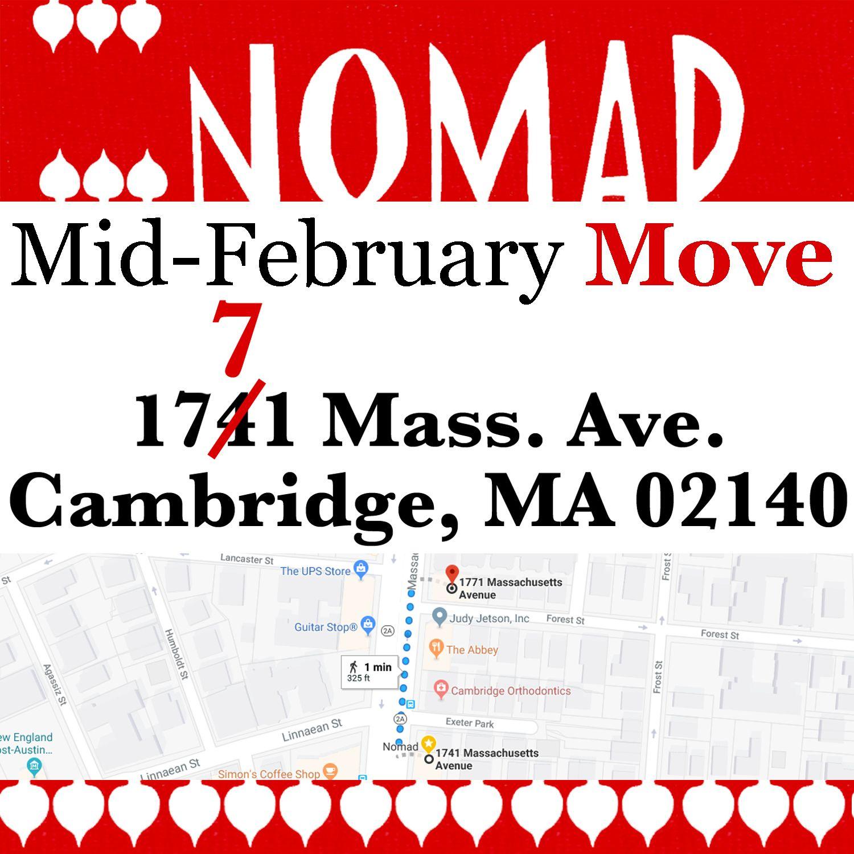Mid February (Exact Date TBA) nomadcambridge will be