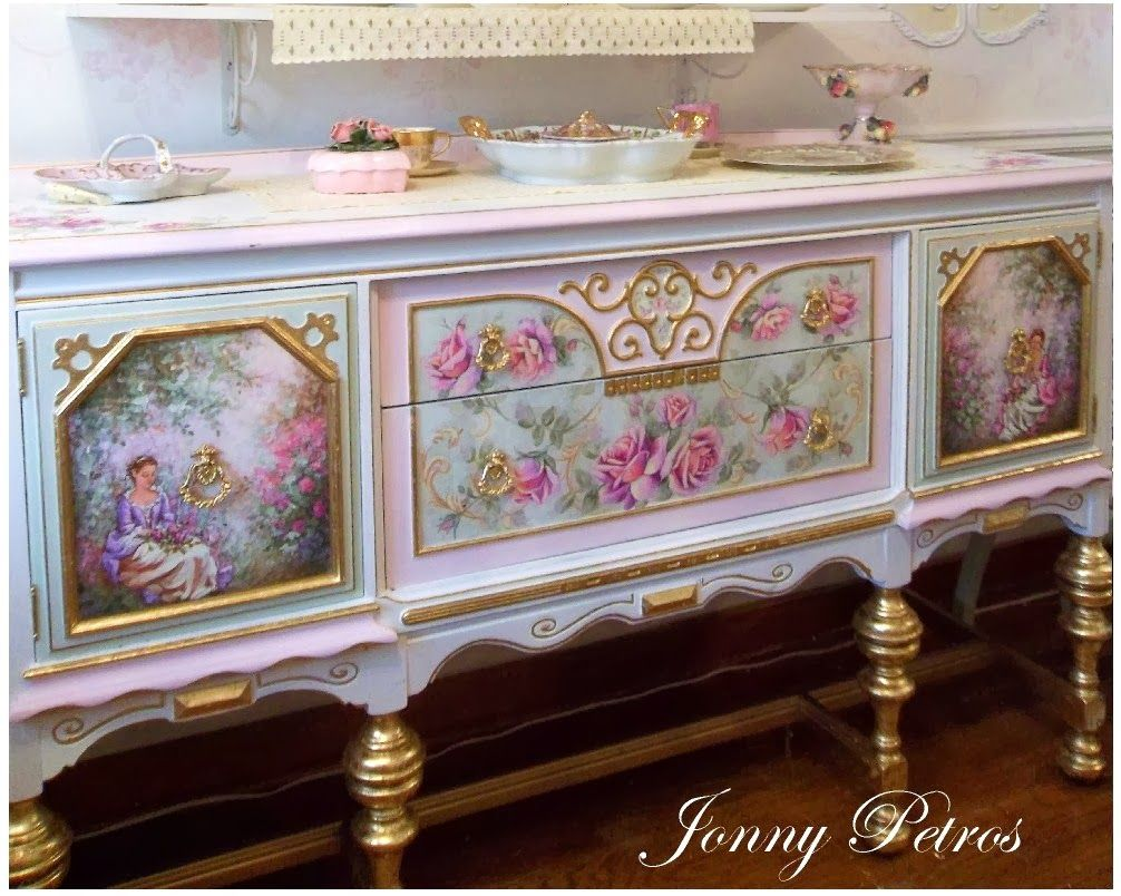 handpainted buffet just beautiful vintage pinterest alte m bel regal und zuhause. Black Bedroom Furniture Sets. Home Design Ideas