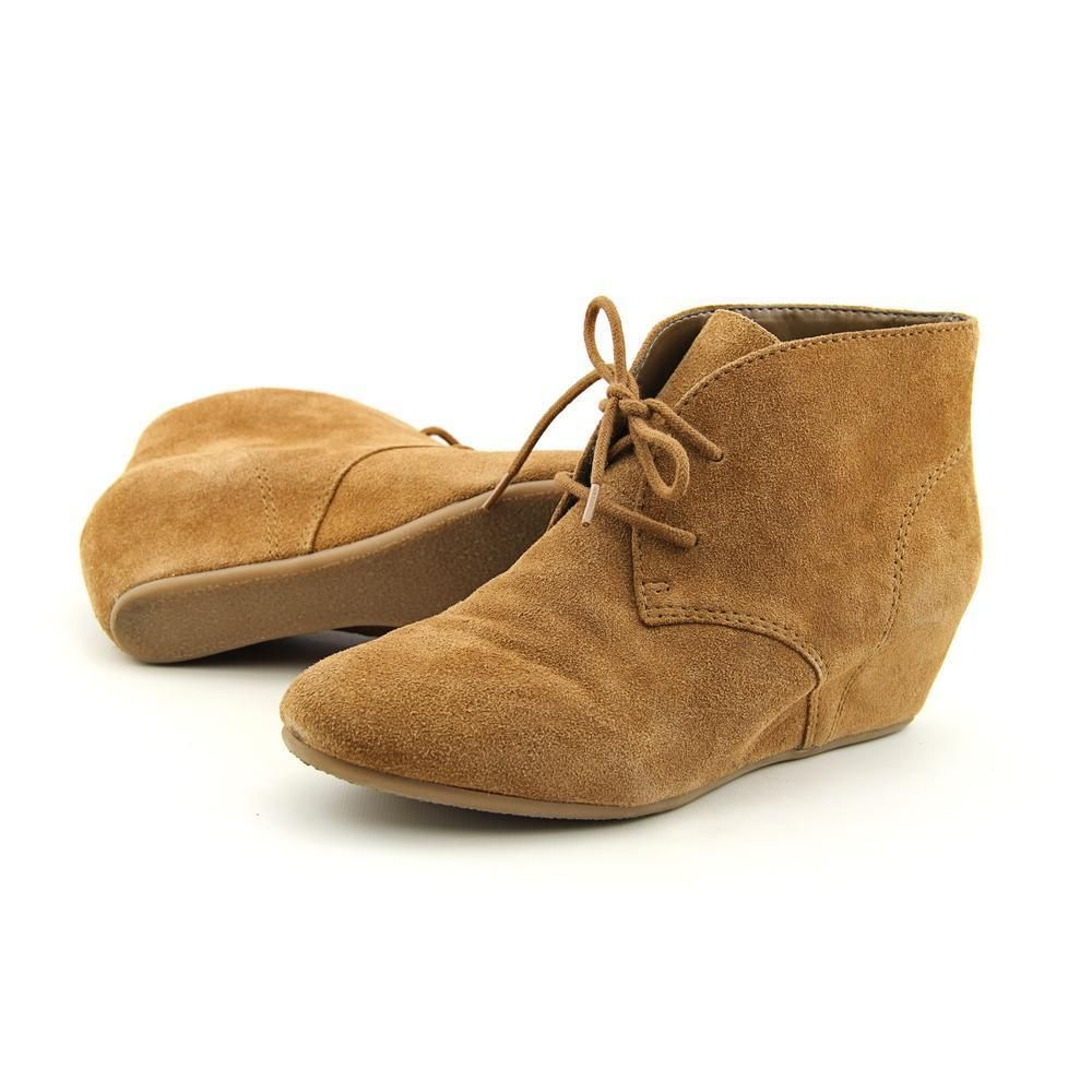 Nine West 7 Joanis Women US 8 Tan Wedge Heel Pre Owned 3363