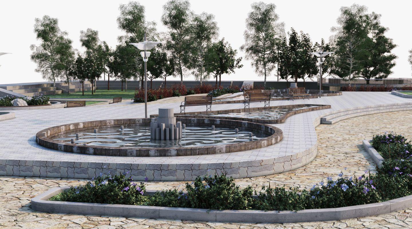 Landscape Park 2 3d Model Park Landscape Landscape Park