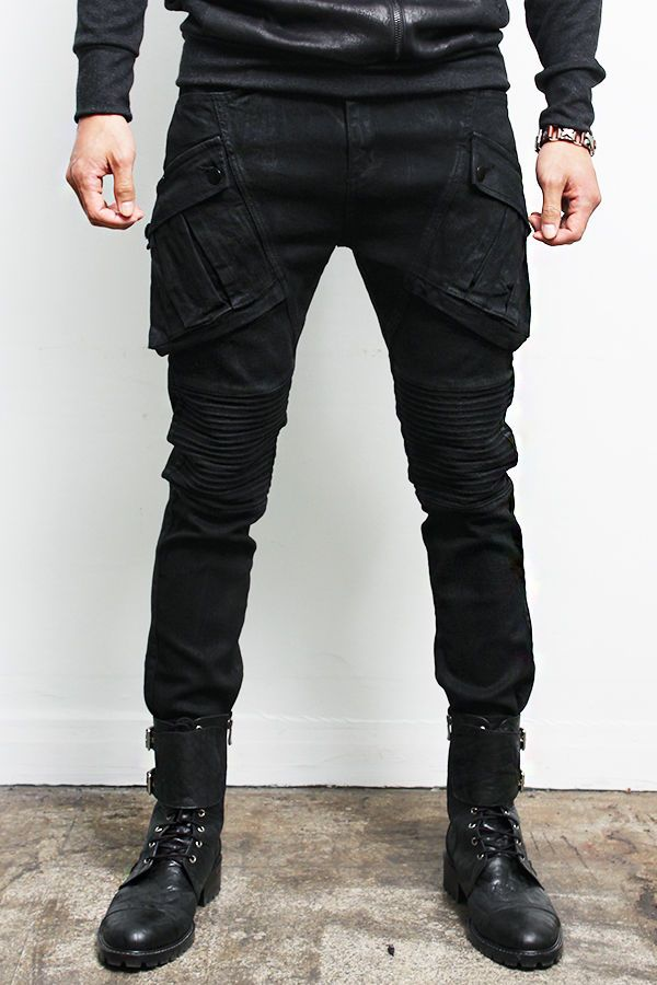Look we Love: Coated Jeans for Him