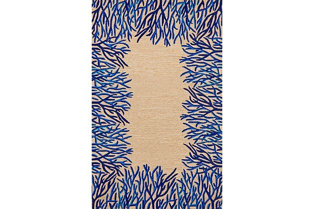 "Tan Home Accents 5' x 7'6"" Rug by Ashley HomeStore"