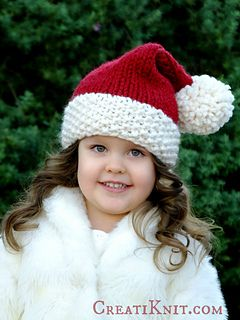 4d6d9a43d6e Fill your project bag with Christmas magic   holiday sparkle! Free knitting  pattern to make a cute santa hat. Try it in Burly Spun yarn from Brown  Sheep!