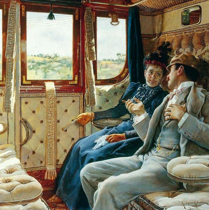 Картинка счастливой дороги на поезде, гифка