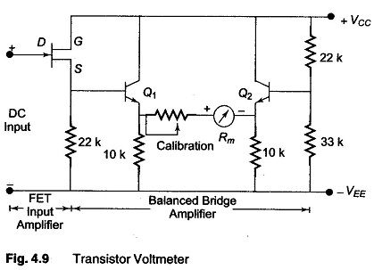 Transistor Voltmeter - Direct coupled amplifiers are economical and
