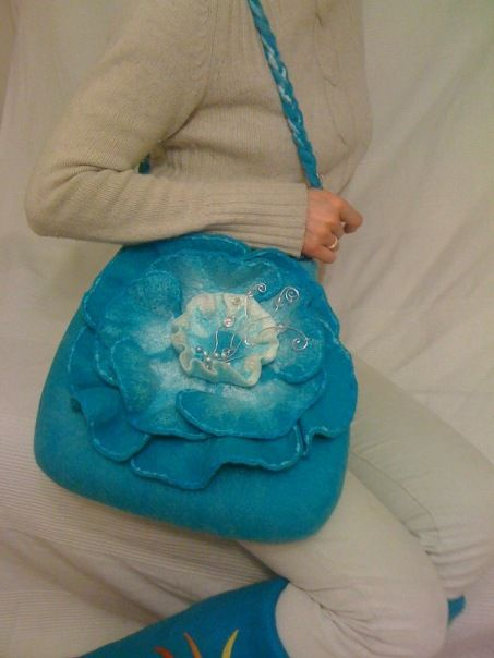 Felted 3D Design Bag