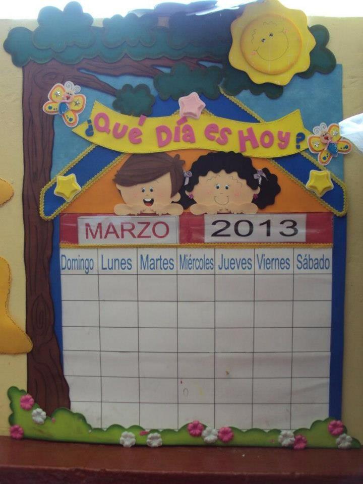 que día es hoy | ambientación de aula-jardín de niños | Pinterest ...