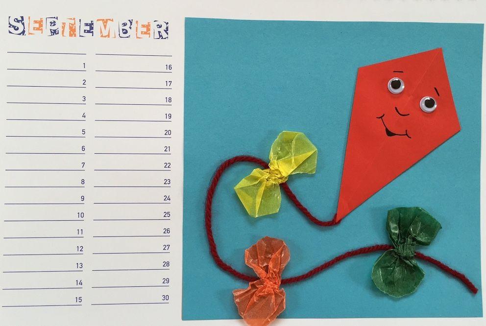 material und tipps für die grundschule  kalender basteln