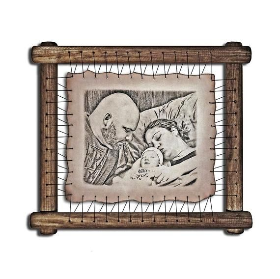 5 Year Wedding Anniversary Gift Ideas For Her: RARE Pyrography Ha… In 2019