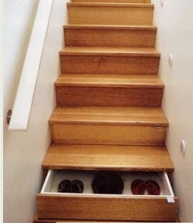 shoe storage you won't trip over  :-)    Wow This Is An Awesome Idea!!