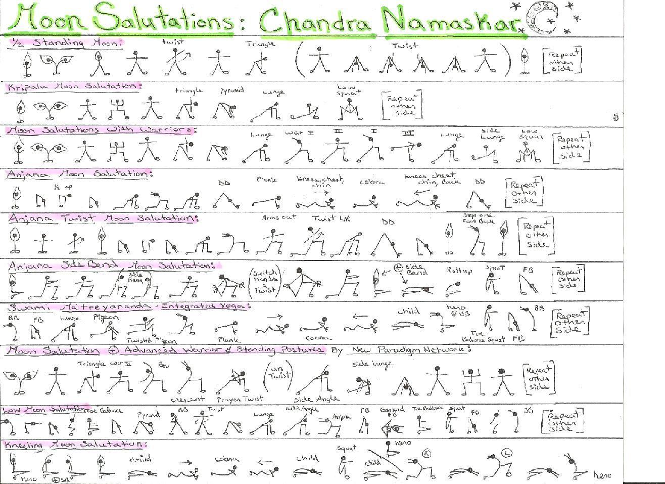 1000  ideas about Moon Salutation on Pinterest | Yoga, Yoga ...