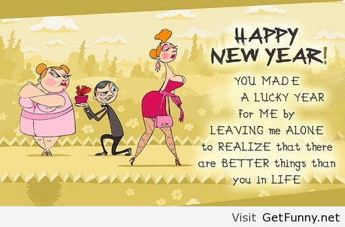 Funny Happy New Year Wishes Quotes: Happy-new-year-2014-cartoon-funny.jpg (500×330)