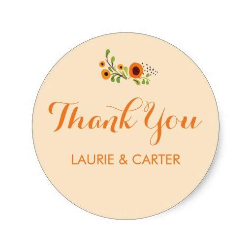 Flowering Vine Wedding Sticker Template Floral Wedding Stamp/Label