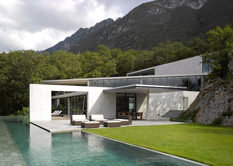 Tadao Ando S Casa Monterrey Nestles Against A Hillside In Mexico Architecture Architecture Design Architecture House