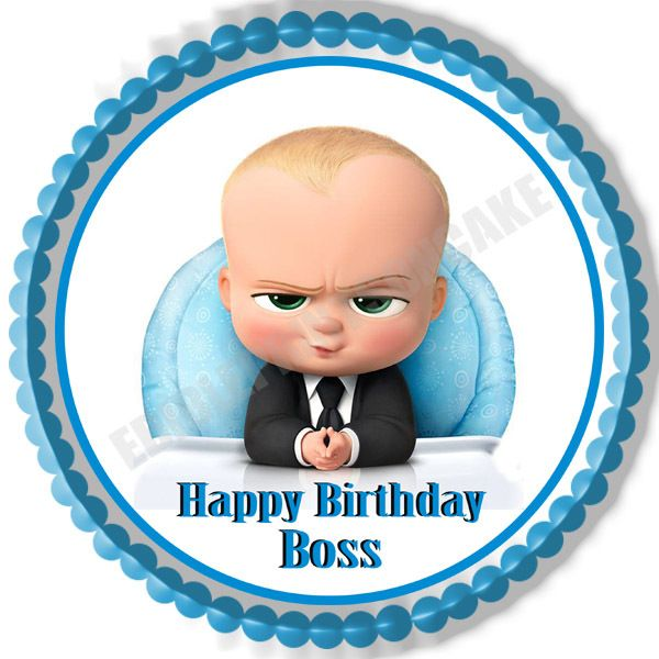 The Boss Baby Edible Cake Topper Or Cupcake Topper Decor Boss Baby Happy Birthday Boss Baby Boy 1st Birthday Party