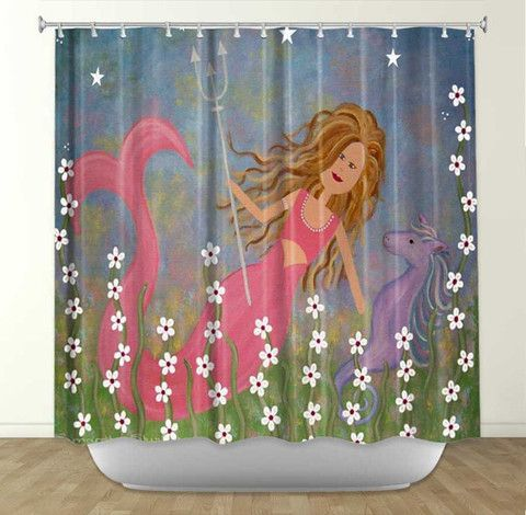 Neptunes Treasure By Samantha Knops Fabric Shower Curtain