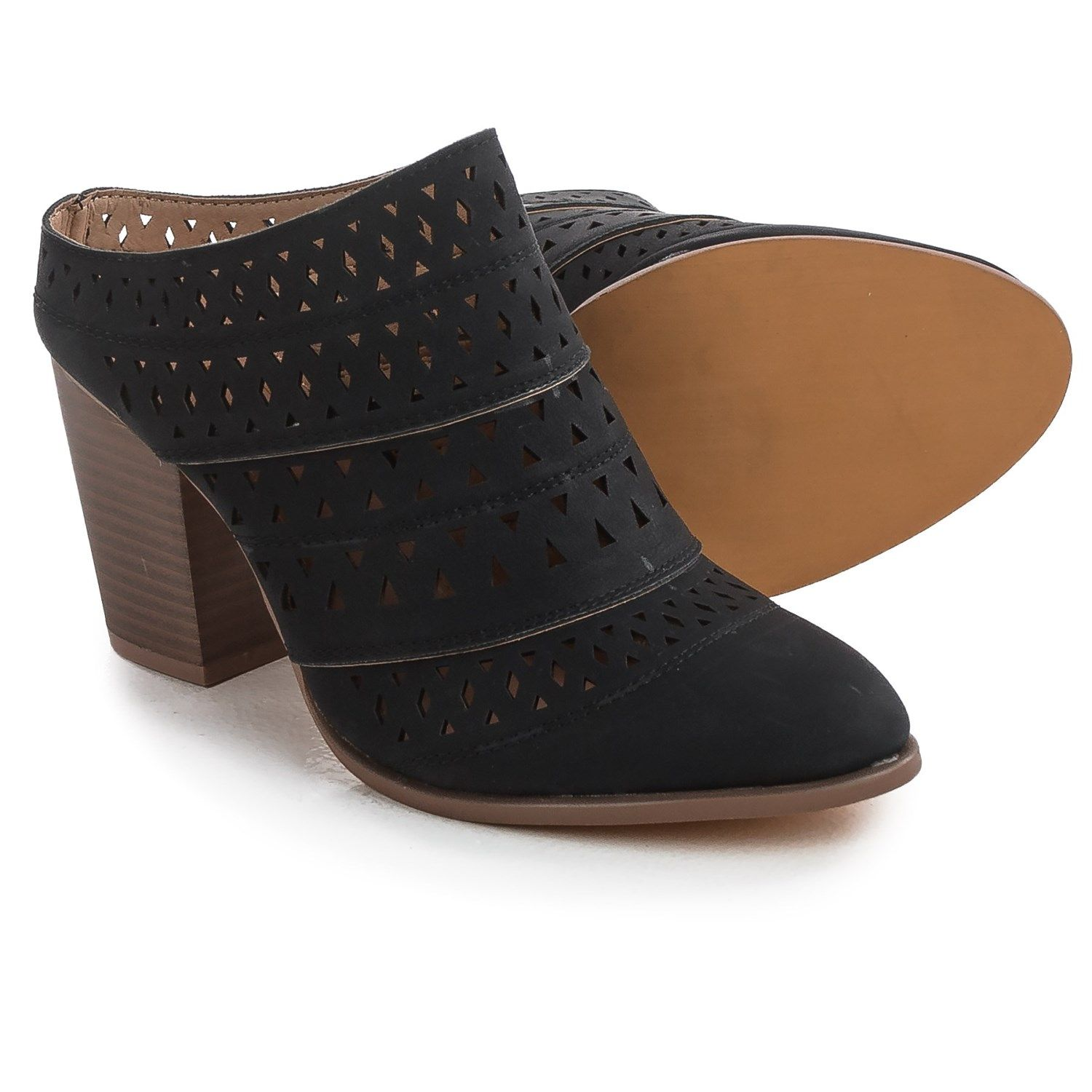 Yoki Harron Laser-Cut Clogs (For Women) - Save 50%