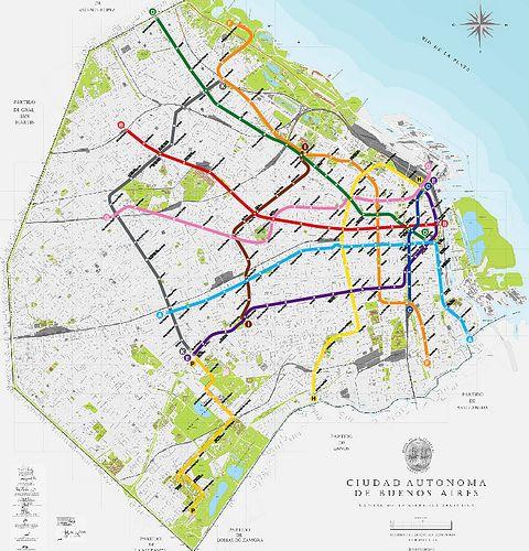 Resultado De Imagen Para Lineas De Subterraneo Buenos Aires Linea - Argentina subte map