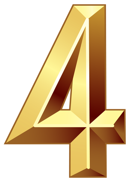 Gold Number Four Png Clipart Image Gold Number Clip Art Free Clip Art