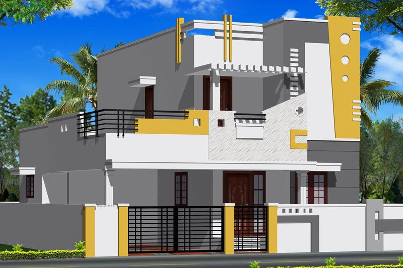 Floor Elevation False : House front wall hiqra pinterest coimbatore