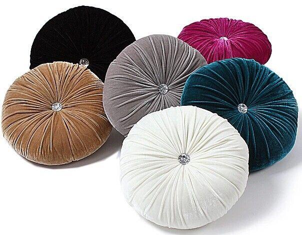 US $35.65 |new 2014 round cushion cover velvet cushion pillow capa de almofada preto e branco purple velvet sofa fabric black white pillows|fabric blind|fabric outdoor cushionsfabric offers - AliExpress