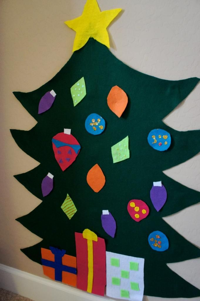 Anne S Odds And Ends Felt Kids Christmas Tree Craft Felt Christmas Tree Christmas Sunday School Christmas Tree Crafts