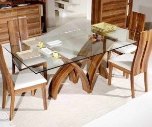 Glass Table Tops Ideas To Add Grace In Your Wooden Furniture Fab Glass And Mirror Glass Dining Room Table Glass Top Dining Table Square Glass Dining Room Table