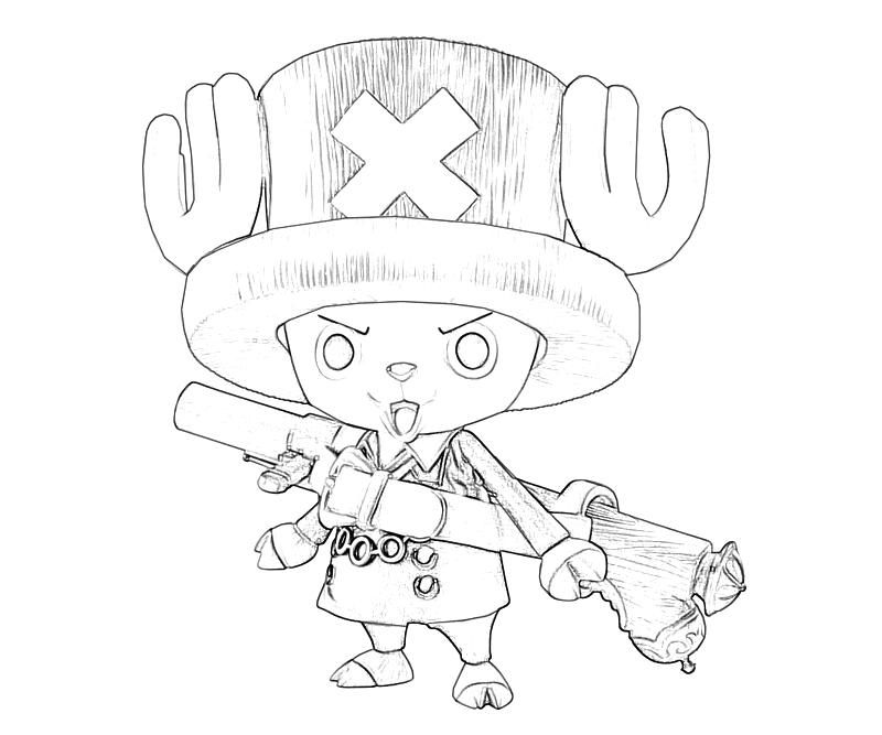 printable one piece tony tony chopper look coloring pages