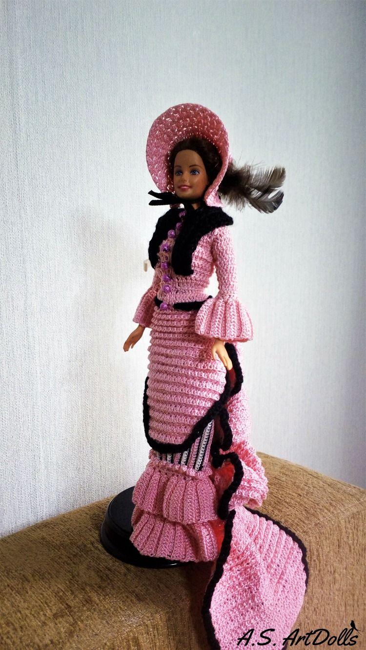 Doll dress Crochet doll dress #historicaldollclothes