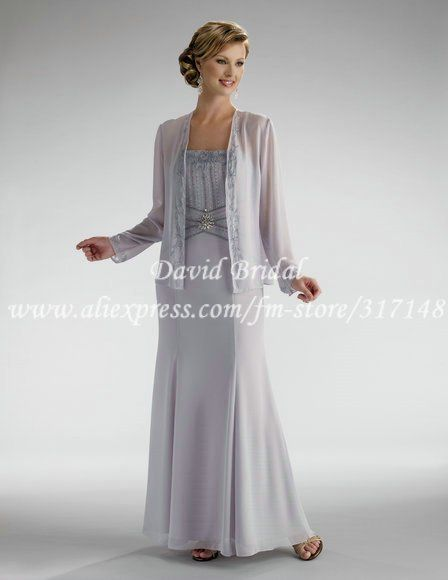 Floor Length Sheath Chiffon Mother Of The Bride Dresses With Long Jacket Ed071 In Mother Mother Of The Bride Dresses Evening Dresses Pretty Quinceanera Dresses